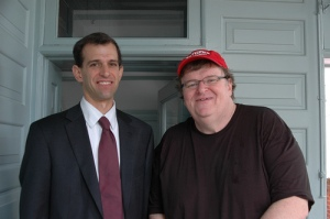 Public Citizen President Robert Weissman and filmmaker Michael Moore